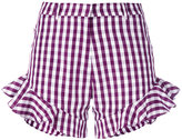 House of Holland gingham ruffle shorts - women - Cotton/Polyester - 6
