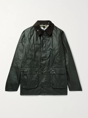 Barbour White Label Bedale Corduroy-Trimmed Waxed-Cotton Jacket