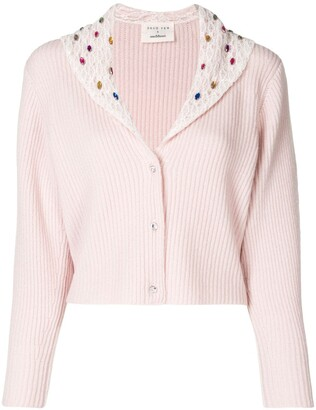 Onefifteen Embellished Cropped Cardigan