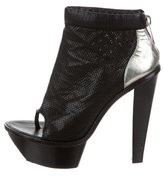 Alexander Wang Perforated Peep-Toe Ankle Boots