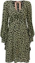 No.21 star print flared dress