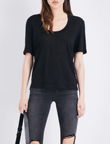 Frame U-neck linen T-shirt