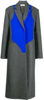 Nina Ricci contrasting panel long coat