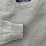 Charles Tyrwhitt Light grey cotton cashmere crew neck jumper