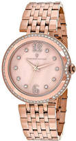 Mother of Pearl Christian Van Sant Jasmine Womens Mother-of-Pearl and Rose-Tone Bracelet Watch No Color Family