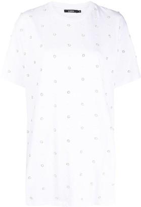 Amen pearl accent T-shirt