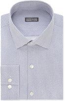Kenneth Cole Reaction Men's Slim-Fit Navy Dot-Pattern Dress Shirt