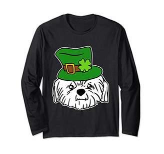 Shih Leprechaun Tzu Funny St. Patrick's Day Shamrock Humor Long Sleeve T-Shirt