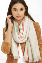 Love Stitch Ocean Morning Red and Grey Striped Scarf