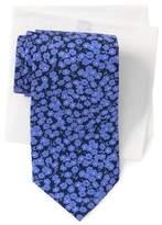 Tommy Hilfiger Dark Floral Tie & Oxford Pocket Square