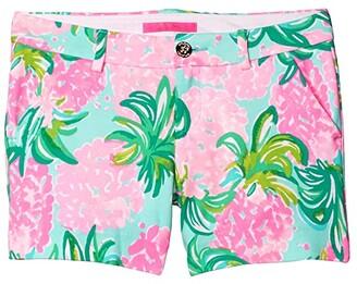 Lilly Pulitzer Callahan Knit Shorts (Blue Ibiza Pineapple Shake) Women's Shorts