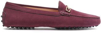 Tod's Gommino Embellished Nubuck Loafers