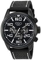 ESQ Men's Multifunction Stainless Steel Watch w/ Leather Strap FE/0021