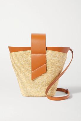 Carolina Santo Domingo Amphora Leather-trimmed Straw Tote - Tan