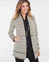 Chico's Pieced Knit Jacquard Jacket