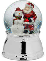 Mikasa Holiday Santa & Snowman Snow Globe