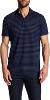 Vince Feeder Stripe Linen Polo