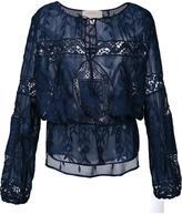 Nicole Miller floral lace blouse