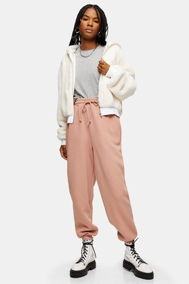 Topshop Pink Oversized Joggers