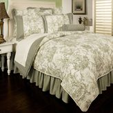 Sherry Kline Country Toile Reversible Comforter Set in Sage Green