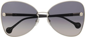 Salvatore Ferragamo Oversized Gradient Sunglasses