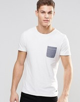 BOSS ORANGE By Hugo Boss T-Shirt With Contrast Pocket In White