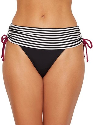 Pour Moi? Sea Breeze Stripe Fold-Over Bikini Bottom