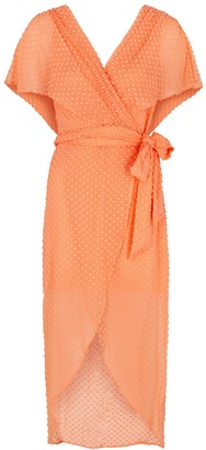 Alice + Olivia Darva wrap-effect silk-blend dress