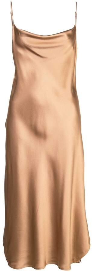 Nili Lotan Junie Sleeveless Cowl Neck Silk Midi Dress