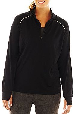 JCPenney Xersion Half-Zip Pullover - Plus