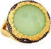 Armenta Old World Chrysoprase & Quartz Doublet Ring w/ Diamonds, Size 7