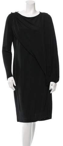 Givenchy Draped Long Sleeve Dress