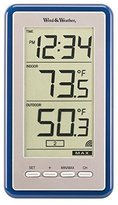 La Crosse Technology Large-Digit Indoor/Outdoor Color Spot Thermometer and Clock, in
