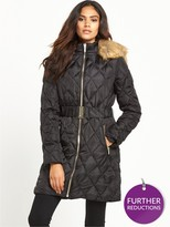 Lipsy Long Quilted Padded Co