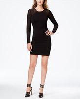 GUESS Illusion-Sleeve Sheath Dress