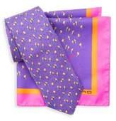 Etro Purple Tie & Pocket Square Box Set