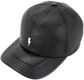 Neil Barrett lightning cap - men - Leather - One Size