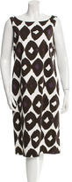 Max Mara Abstract Print Midi Dress