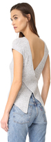 Autumn Cashmere Crisscross Open Back Tee