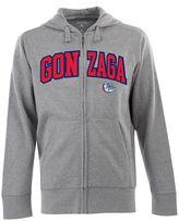 Antigua Men's Gonzaga Bulldogs Signature Zip Front Fleece Hoodie