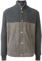 Brunello Cucinelli cashmere colour block jacket