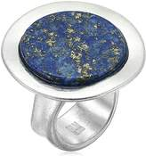 Robert Lee Morris Color Wheel Silver with Lapis Stone Ring, Size 7.5