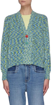 PortsPURE Contrast button cardigan