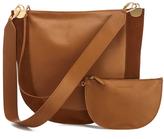 Diane von Furstenberg Women's Moon Leather/Suede Cross Body Bag Whiskey