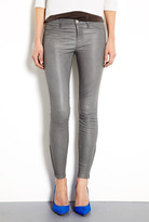 J Brand Denim Cement Mid Rise Leather Legging