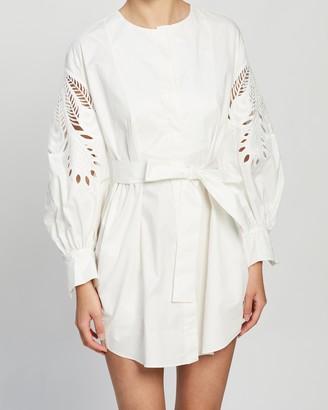 Shona Joy Sienna Shirt Dress with Embroidery