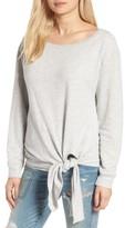 Hinge Women's Tie Front Fleece Pullover