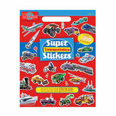 Asstd National Brand Super Transportation Stickers Activity Book