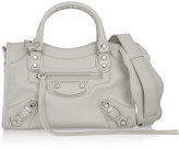 Balenciaga Classic Metallic Edge City Mini Textured-leather Shoulder Bag - Light gray