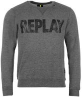 Replay Big Logo Crew Sweater